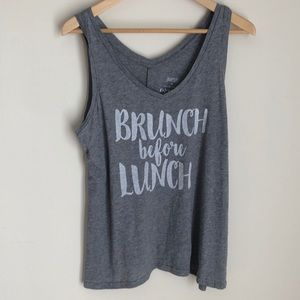 NWT Gilligan & Omalley V-neck grey Tank